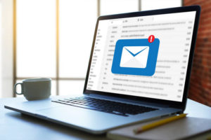 Email on laptop