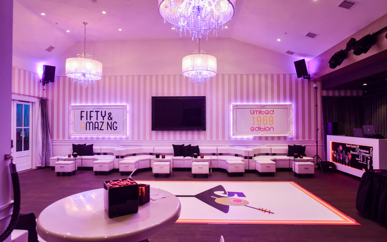 Fiftieth Birthday Party Room Set Up at Vienna