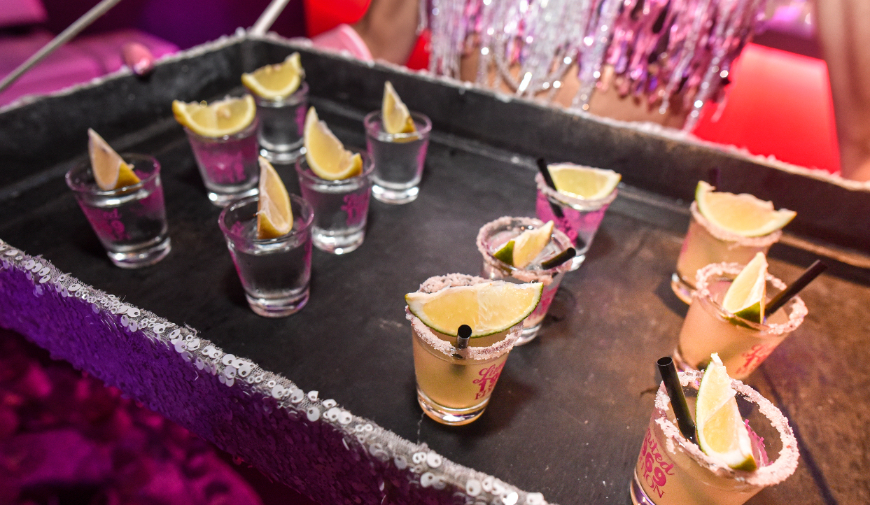 Tequila Shots with Salt and Lime at Birthday Party
